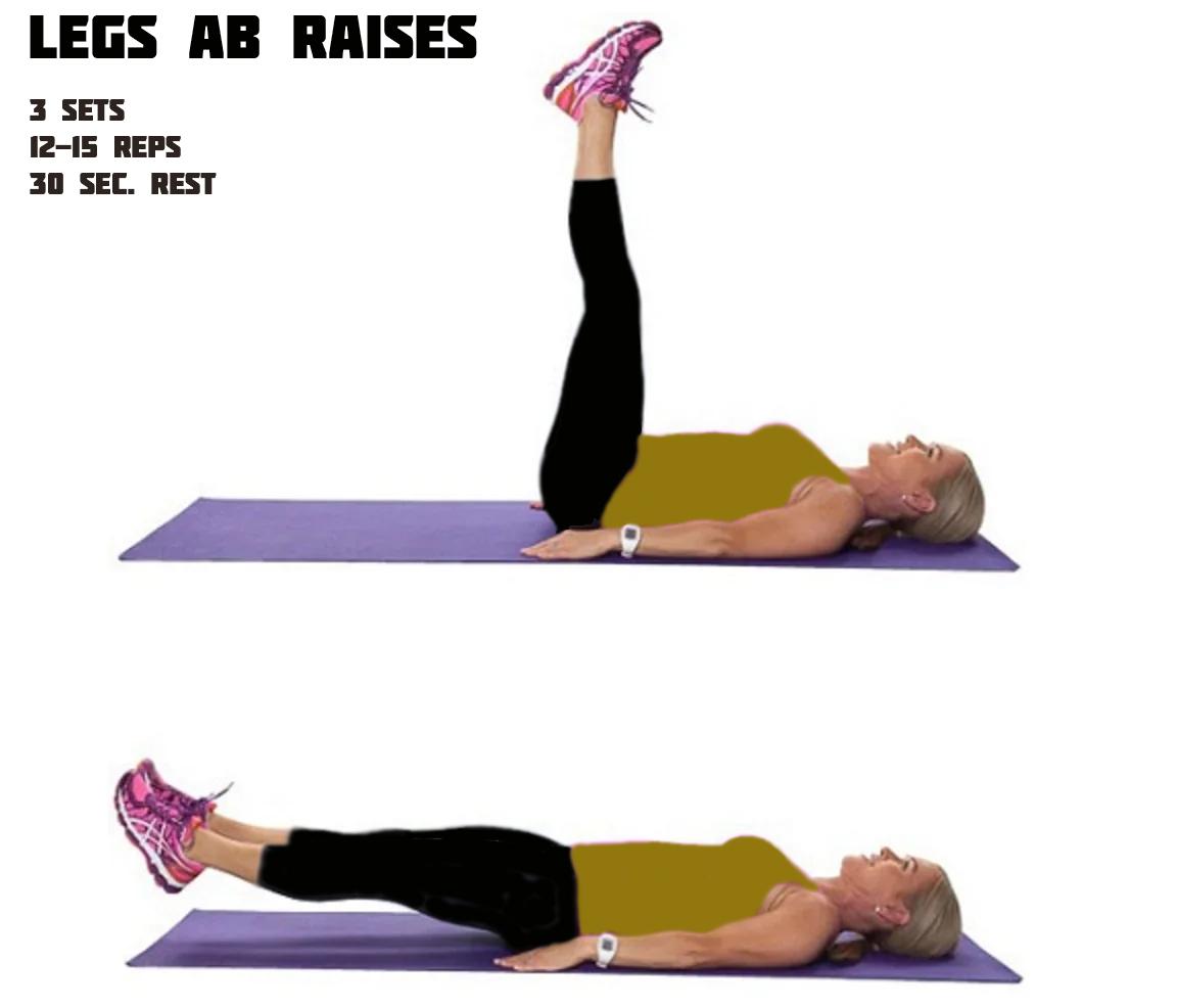 Legs Ab Raises Workout