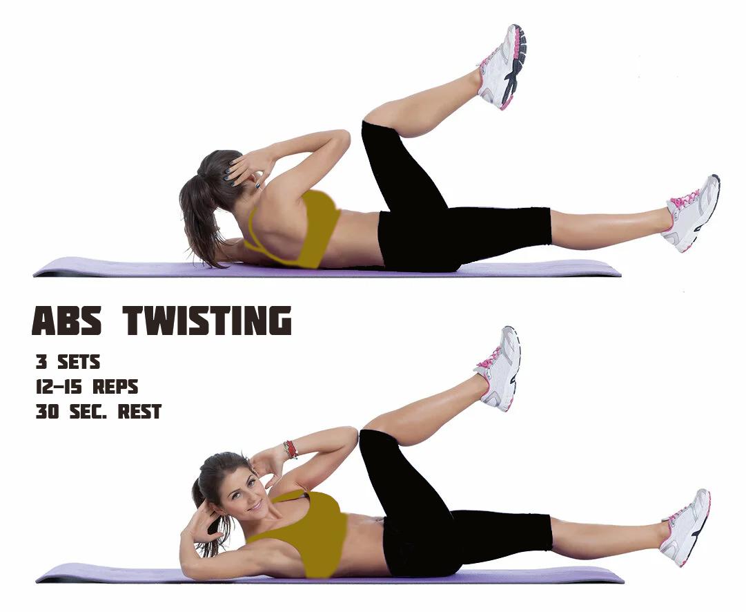 Twist abs Workout