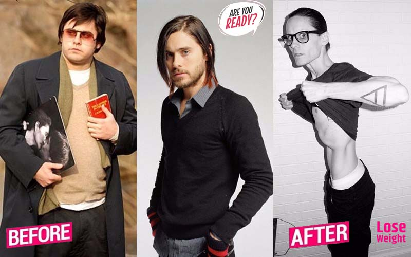Jared Leto - gained 30 kg, lost weight up to 50 kg