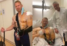 Dennis Wolf after shoulder surgery